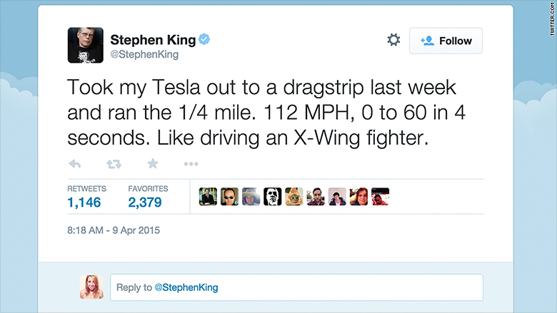 stephen king tesla tweet