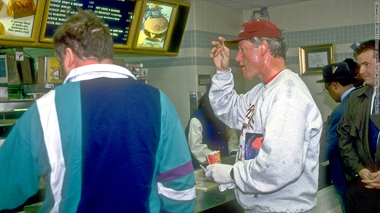 fast food bill clinton ordering mcdonalds
