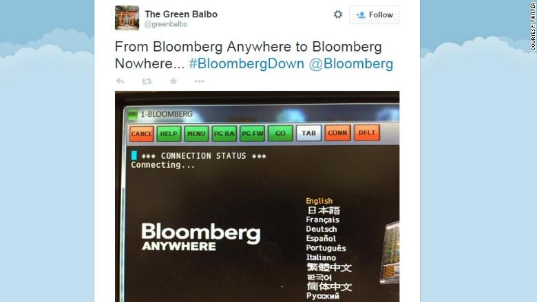 bloomberg down tweet