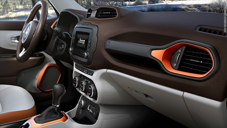 jeep renegade 10 best car interiors cnnmoney. Black Bedroom Furniture Sets. Home Design Ideas