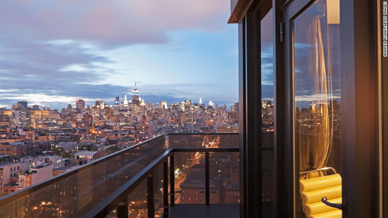 high rise manhattan balcony