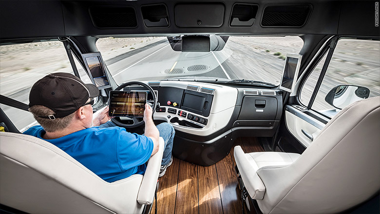 self driving semi hits the road. Black Bedroom Furniture Sets. Home Design Ideas