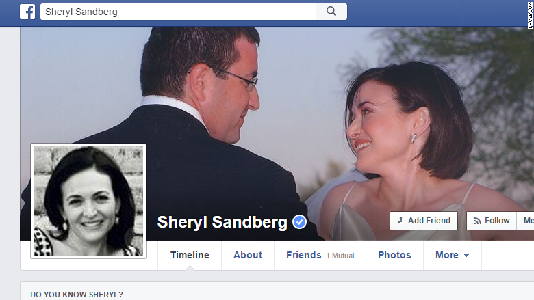 sandberg facebook profile