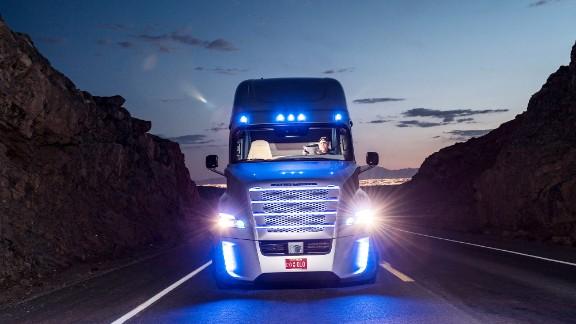 Self-driving semi hits the road