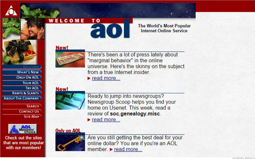 old websites aol