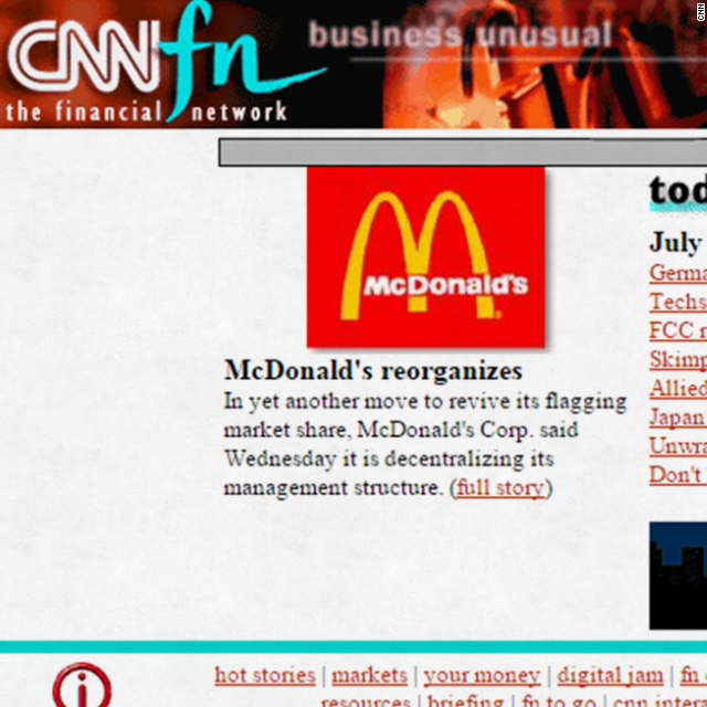 Here's what your favorite websites looked like 20 years ago