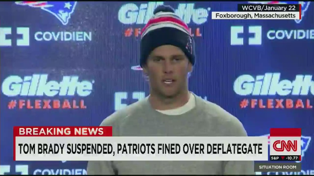 Deflategate: Tom Brady suspended for four games