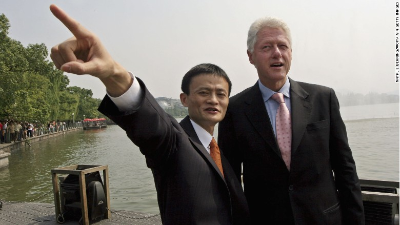 jack ma bill clinton