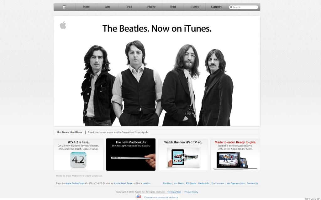 apple.com beatles 11-5-10