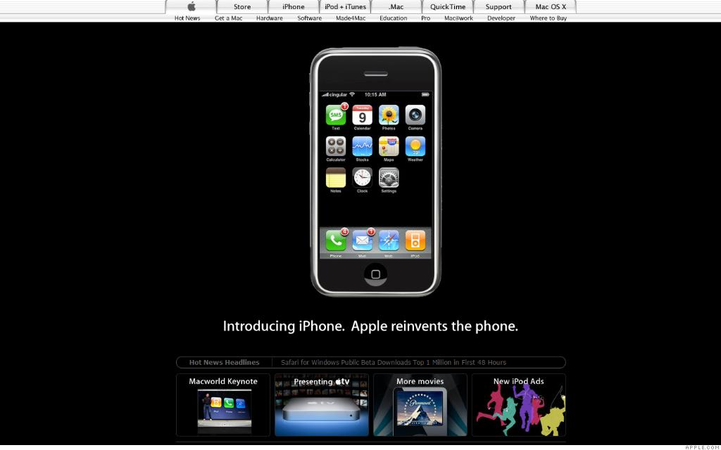 Iphone Jan 10 2007 The History Of Apple Com Cnnmoney