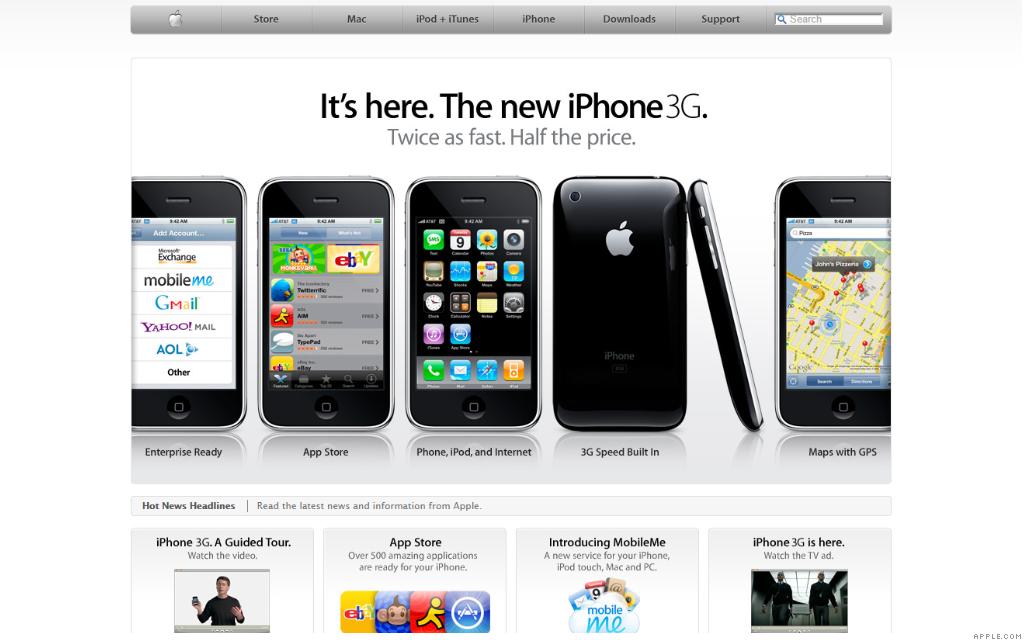 apple.com iphone 3g 7-12-08