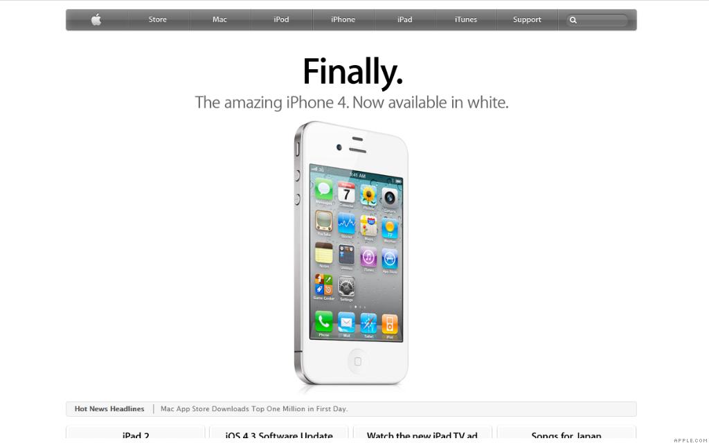 apple.com iphone 4 white 4-29-11