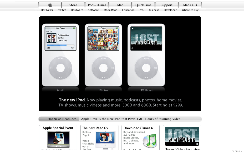 Ipod Fifth Generation Oct 13 2005 The History Of Apple Com Cnnmoney