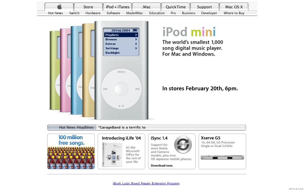 apple.com ipod mini 2-20-04