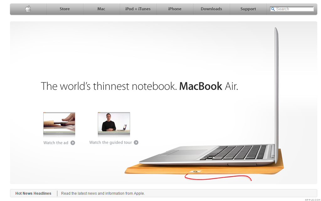 apple.com macbook air 1-31-08