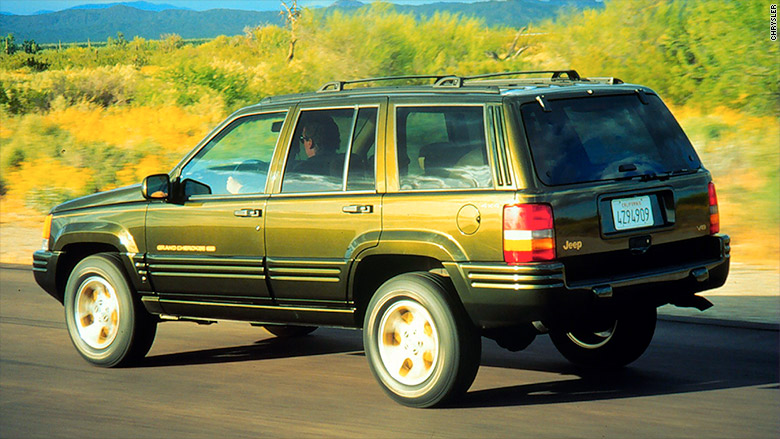 96 jeep grand cherokee recalls