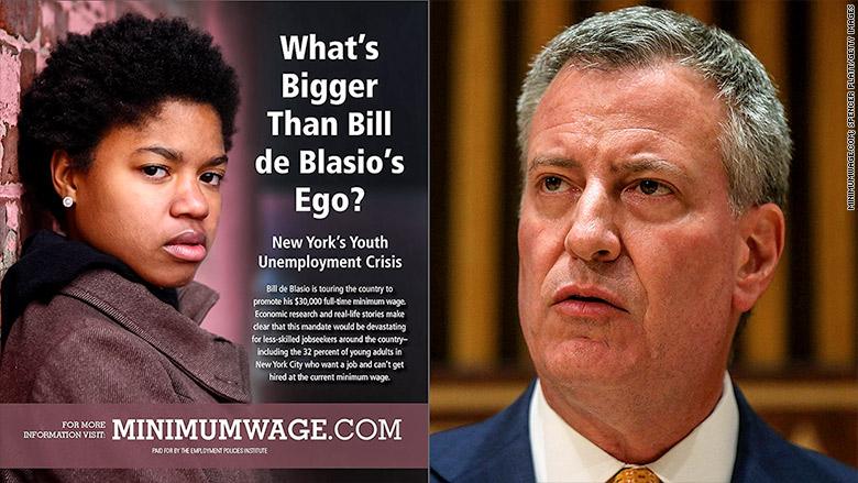 bill deblasio minimum wage