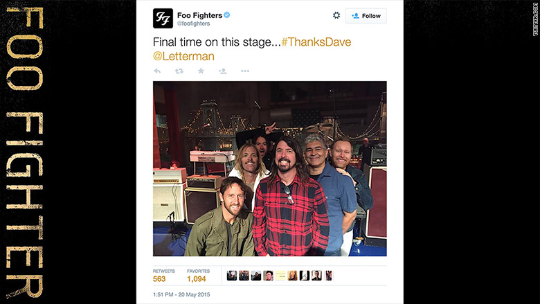 foo fighter tweet