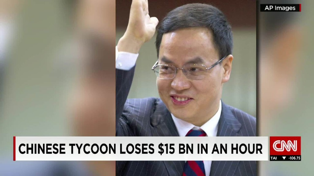 Hanergy chairman loses $15 billion in one hour