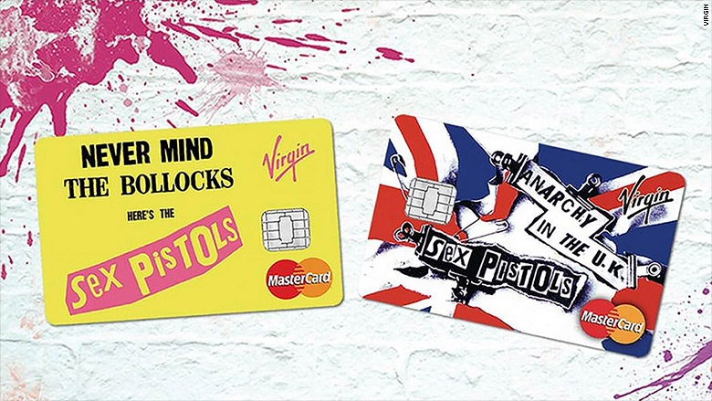 virgin credit card sex pistols