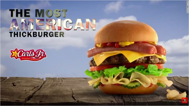 fast food carls jr burger