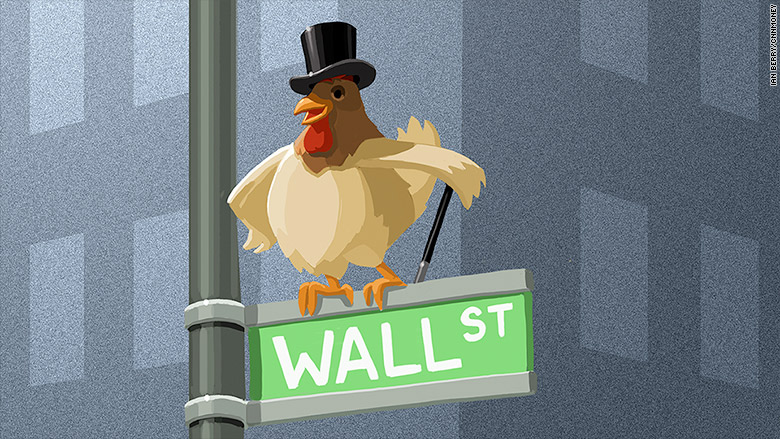 chicken on wall street