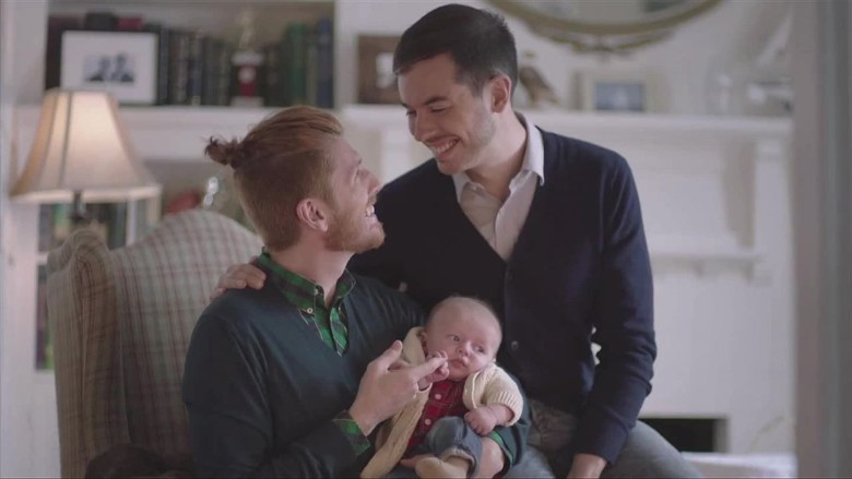 same sex couples in commercials in Altrincham