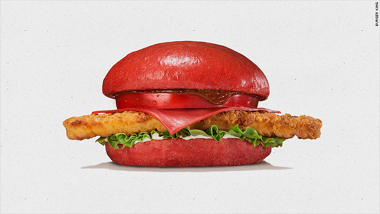 burger king red burger