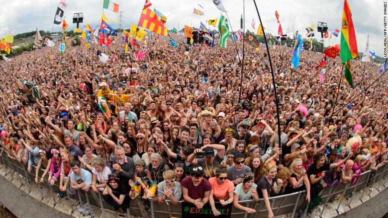 glastonbury festival concert party crowd