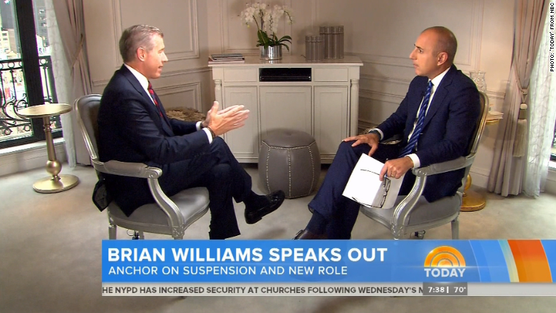 Brian Williams Today show interview