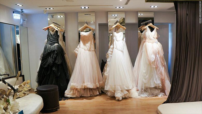 taiwanese bride dresses