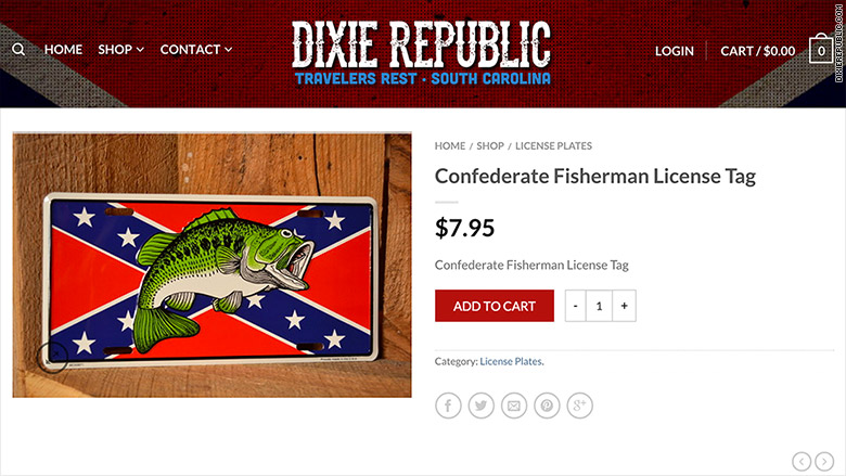 confederate fishing plate