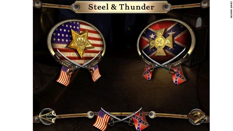 confederate flag civil war game