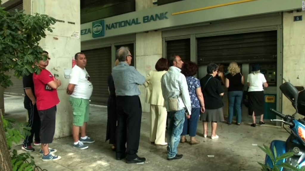 ECB cuts off new money to Greece