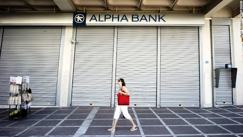 greek bank closed