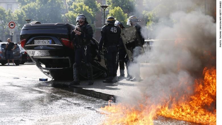 uber france protest