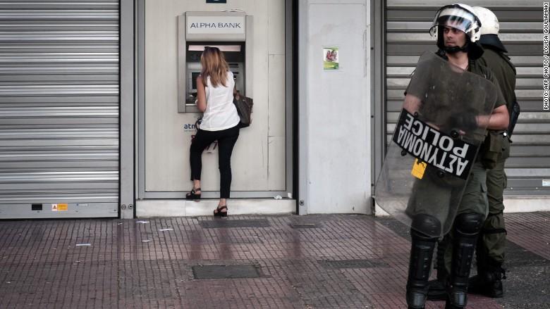 Greece atm police