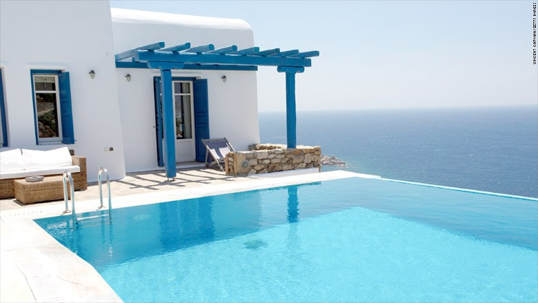 mykonos real estate pool