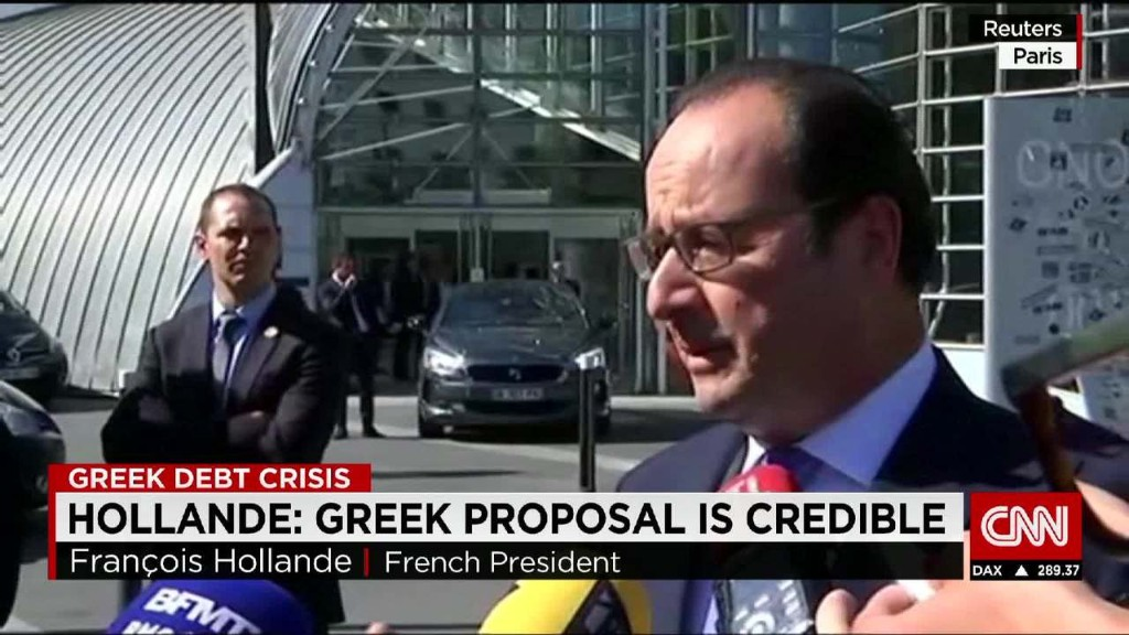 French president: Greek proposal is 'credible'