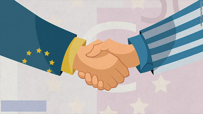 greece euro handshake