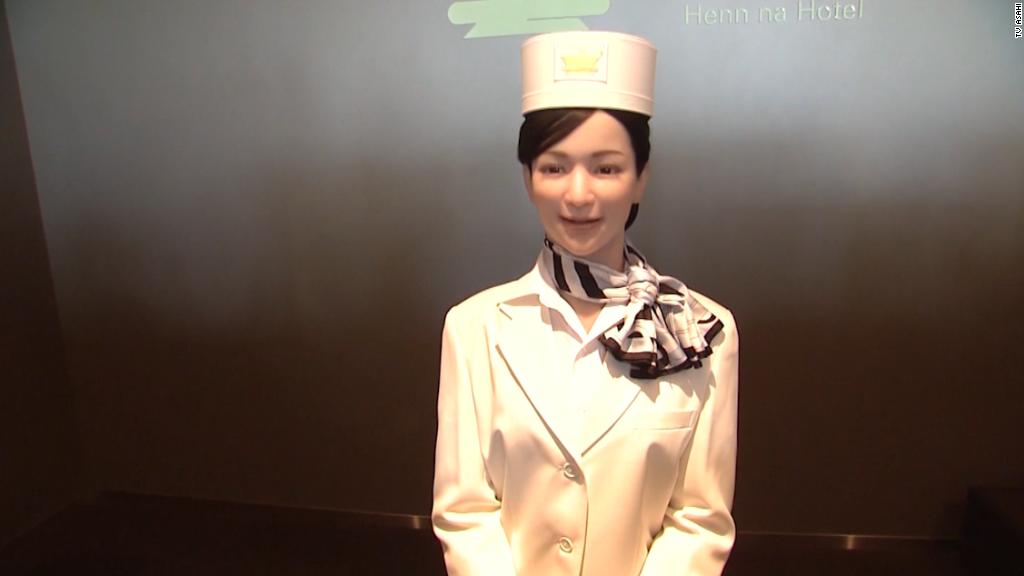 Robots run this hotel