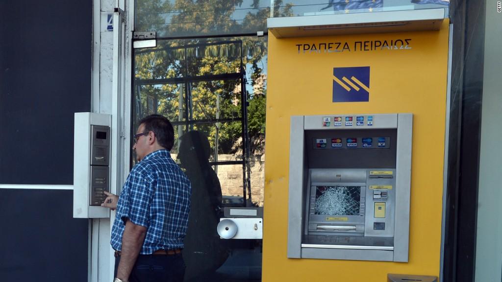 Greek bank shares have crashed