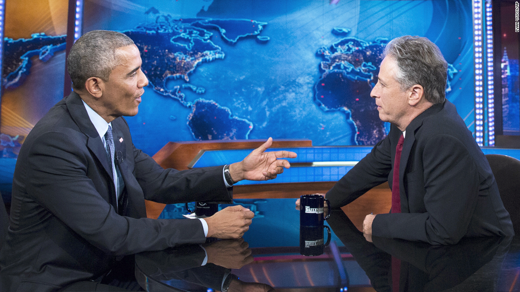 Obama to Jon Stewart: You're leaving before me?