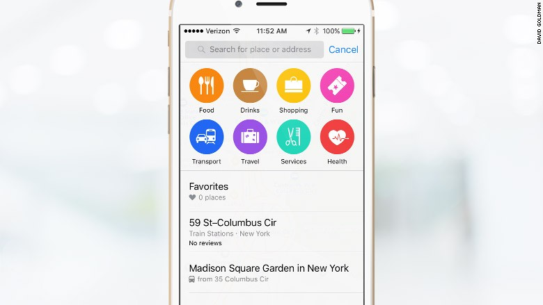 ios 9 map search