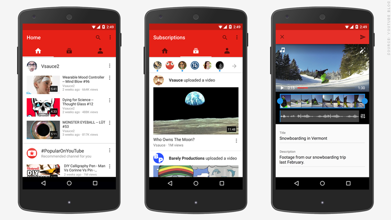 YouTube redesigns app; priority is 'mobile, mobile, and ...
