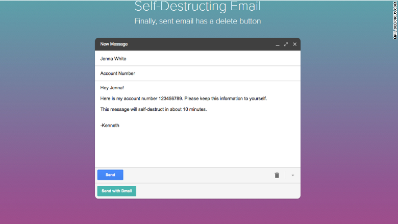 Gmail messages can now self-destruct