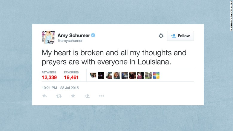 amy schumer louisiana tweet