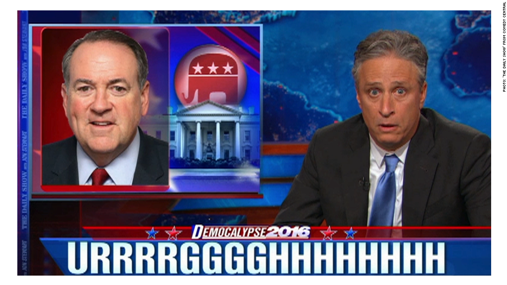 Mike Huckabee leaves Jon Stewart speechless