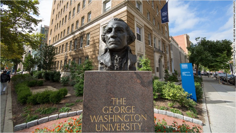 george washington university bust