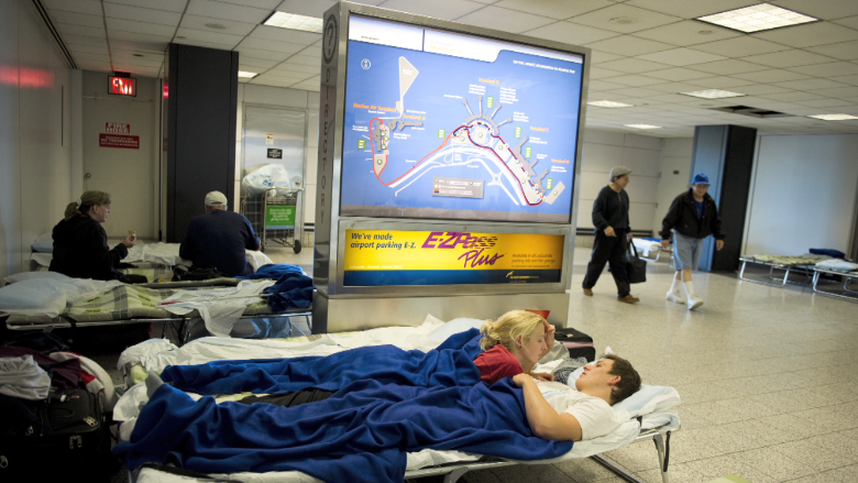 laguardia airport sleeping